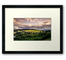Polish Sunset Landscape Framed Print