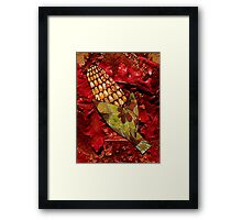 CORN AND THANKSGIVING Framed Print