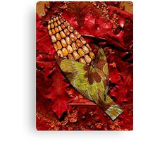CORN AND THANKSGIVING Canvas Print