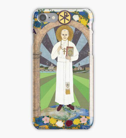 Icon of Pope Saint John Paul II iPhone Case/Skin