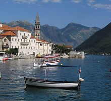 Inlet at Perast on the Adriatic by spineynorm