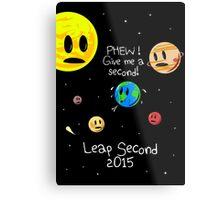 Leap Second 2015 Metal Print