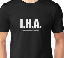 I.H.A. White Text Unisex T-Shirt