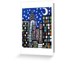 Starry New York Night Greeting Card