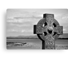 Clew Bay Celtic Cross Canvas Print