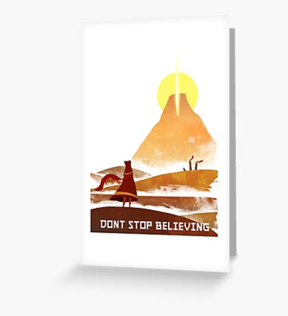 Journey On and On Greeting Card
