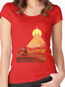 Journey On and On Women's Fitted Scoop T-Shirt