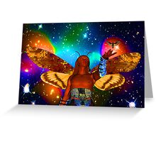 Star Moth Greeting Card