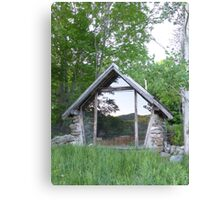 Reflect on the chapel Canvas Print