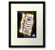 Back To The Future Licence Plate Framed Print