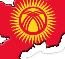 Kyrgyzstan Flag and Outline Sticker