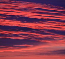 Illuminated Abstract Clouds on an October sunrise, Darlington, England by Ian Alex Blease