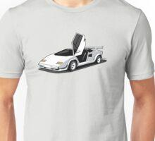 Art Of A White Lamborghini Countach  LP500 S Unisex T-Shirt