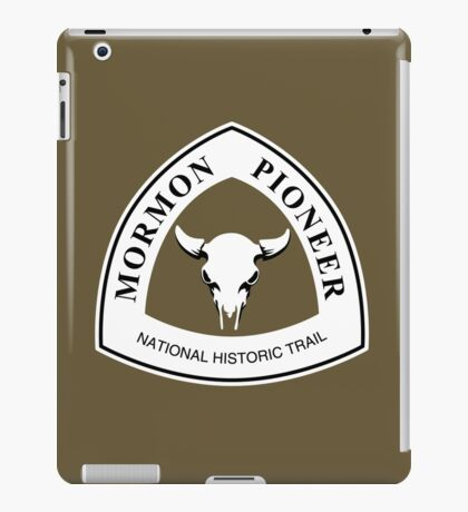 Mormon Pioneer Trail Sign iPad Case/Skin