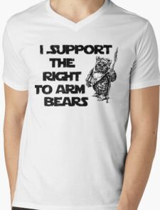 I Support the Right to Arm Bears Mens V-Neck T-Shirt