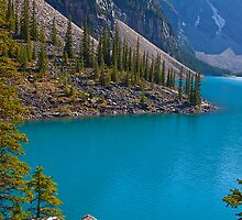 Canada. Canadian Rockies. The magic of Moraine Lake. by vadim19