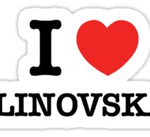 I Love MALINOVSKAYA Sticker