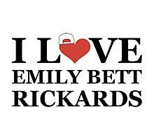 I Love Emily Bett Rickards - Snapback Photographic Print