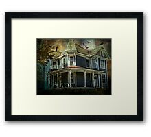 Batty Bates Motel Framed Print