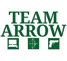 Team Arrow - Symbols w/ Text - Weapons by FangirlFuel