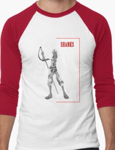 One Piece : Red-Haired Shanks (scarface parody) Men's Baseball ¾ T-Shirt