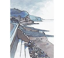 Sea Wall at Amroth Photographic Print