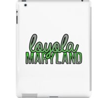 Loyola University Maryland Script iPad Case/Skin