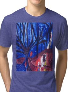 Halloween night Tri-blend T-Shirt