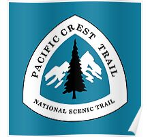 Pacific Crest National Scenic Trail Sign, USA Poster