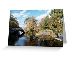 Stone Bridge in Autumn Greeting Card