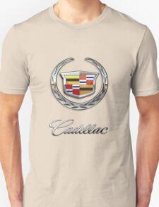 Cadillac - 3D Badge on Black T-Shirt