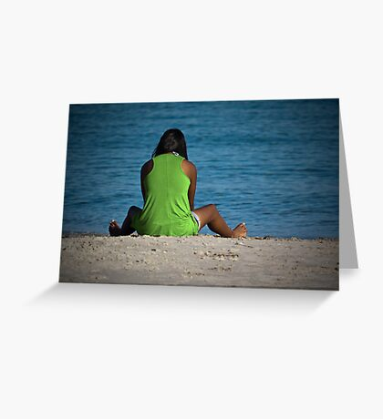 Face The Ocean Greeting Card