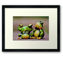 Two frogs Framed Print