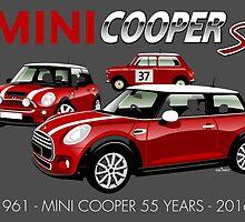 Mini Cooper 55th anniversary by car2oonz