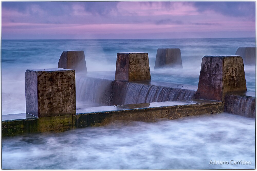 Pink clouds over Coogee by Adriano Carrideo