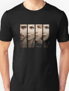 Once Upon a Time, Faces, version 1, UOAT, hook, emma swan, prince charming, snow white T-Shirt