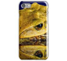 Frog yellow iPhone Case/Skin