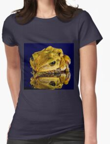 Frog yellow Womens Fitted T-Shirt