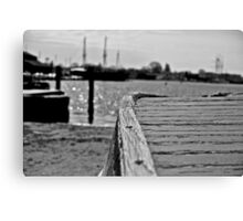 A Wooden Skiff in Mystic Canvas Print