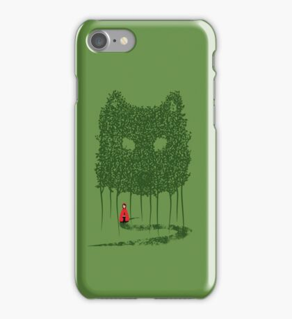 Red & The Wolf iPhone Case/Skin