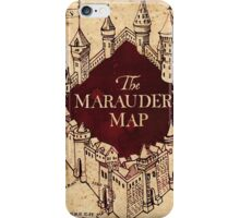 marauders map iPhone Case/Skin