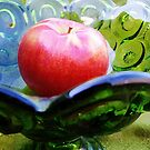Apple and Glassware Still Life   by Kathilee