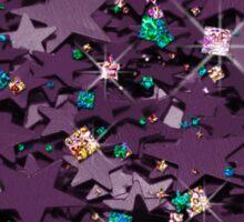 Purple & Multi Colored Sparkly Stars Sticker