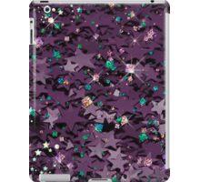 Purple & Multi Colored Sparkly Stars iPad Case/Skin