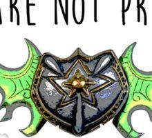 Illidan Stormrage - You Are Not Prepared Sticker