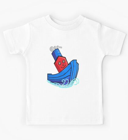 Toddlers Little Toy Tug Boat Tshirt Kids Tee