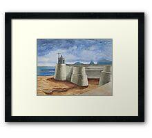 Lonely Harbour Framed Print