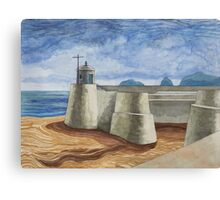 Lonely Harbour Canvas Print