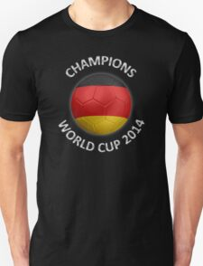 Germany - World Cup Champions 2014 - German Flag Football Soccer Ball T-Shirt