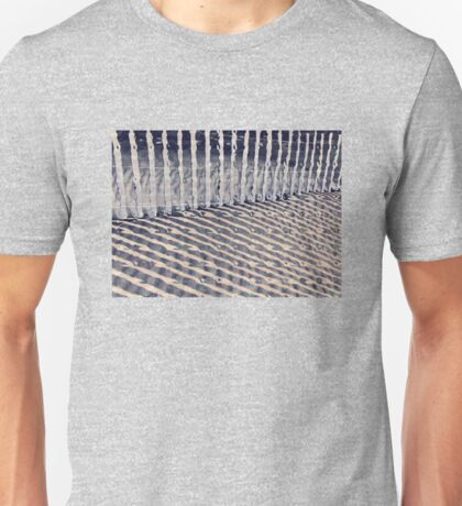 Dune Fence and Shadows Unisex T-Shirt